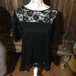 Lace Blouse with camisole built in